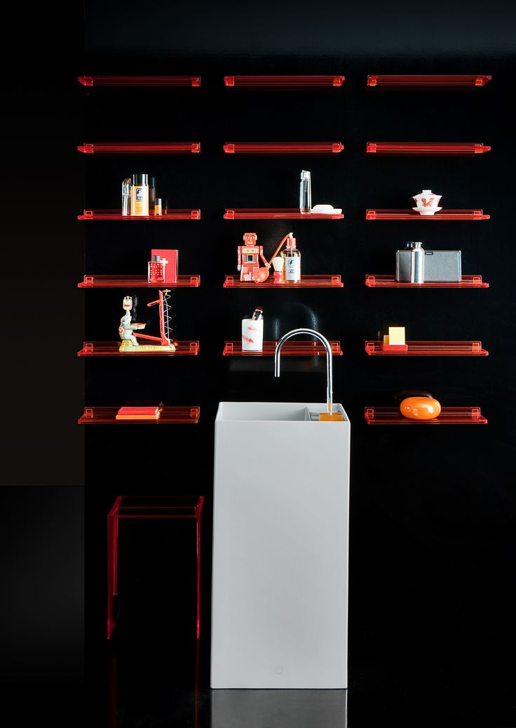 For a quick update, add some Kartell by Laufen shelving with eye cathching accessories.  Read more: http://www.ish.laufen.com/LAUFEN_ISH_EN/en_eng/sa_ish/sa_products/