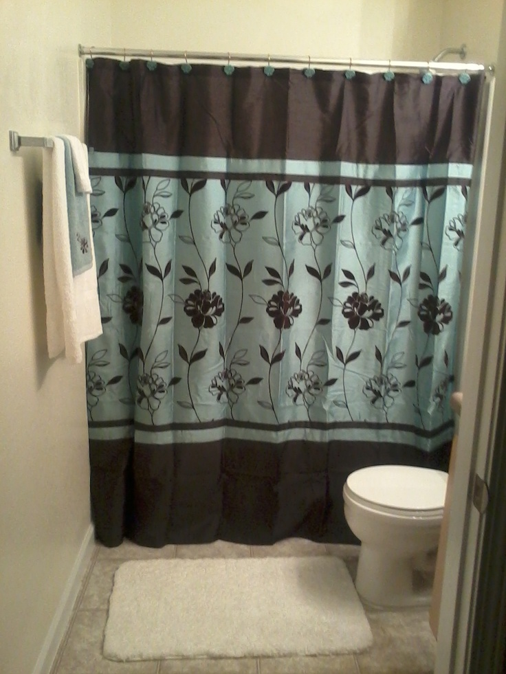 One of my bathroom... I love the brown and teal look.