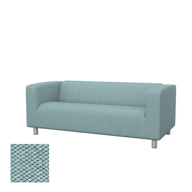 IKEA covers KLIPPAN two-seat sofa cover   Soferia. Fabric samples!!