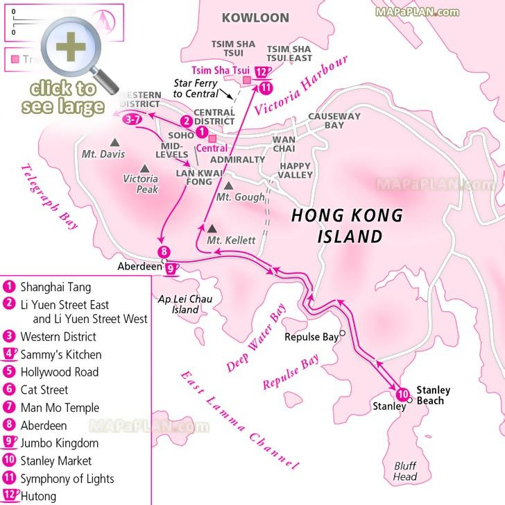 two day trip day two explore most famous hotspots major sites must do attractions aberdeen Hong Kong top tourist attractions map