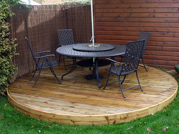 Cheap decking options landscape patio pinterest for Garden decking ideas pinterest