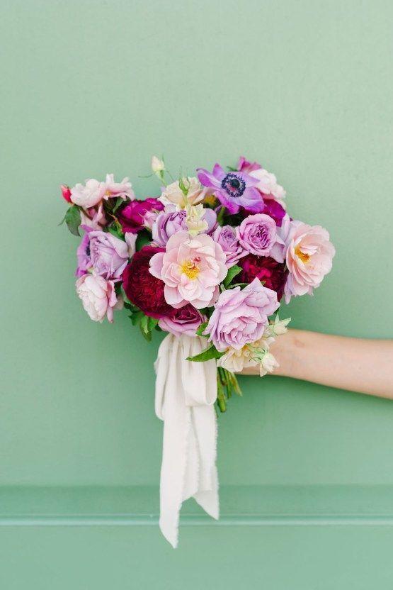 Lush fuchsia florals & other elegant wedding ideas from Charleston