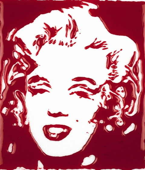 « Bloody Marylin », 2001 © Vik Muniz / Courtesy galerie Xippas, Paris