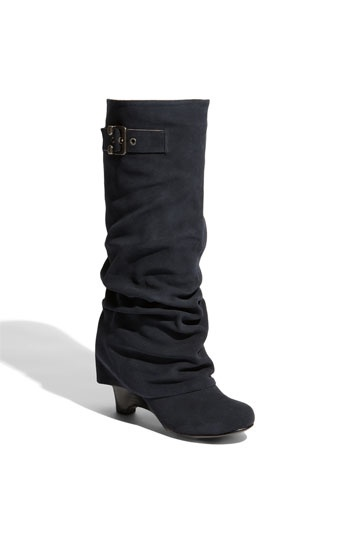 slouchy boots with a wedge heel
