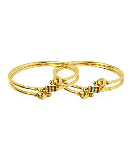 Stylish and Trendy Gold Plated Bangles Combos from the house of Jewels Galaxy…
