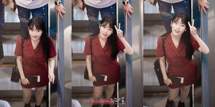 [160729] IU going to China. Incheon Airport.