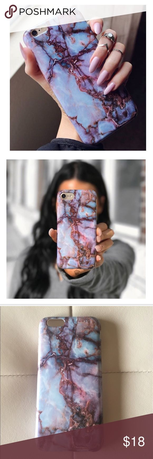 Velvet Caviar Galaxy Marble Phone Case Velvet Caviar Galaxy Marble iPhone 6/6s case, protective with gloss finish. Like new condition, bought it for my mom then she upgraded to iPhone7. Velvet Caviar Accessories Phone Cases
