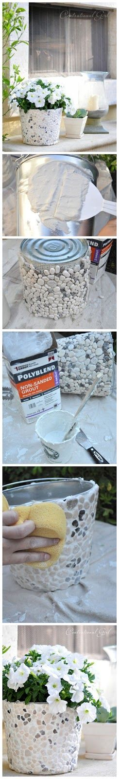 joybobo: How to make your own stone flower pot