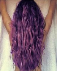 ash brown purple hair
