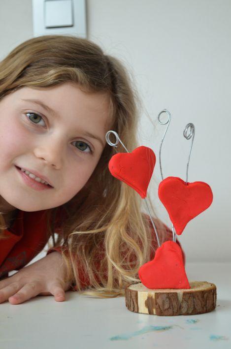 knutselen fotohouder Valentijn