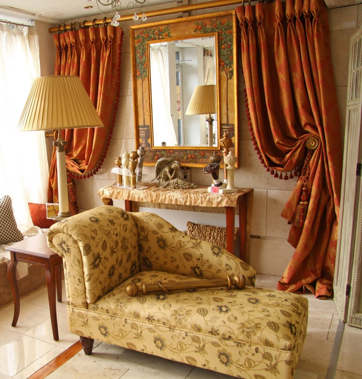 Opulent Curtains U0026 Trimmings With Chaise Lounge