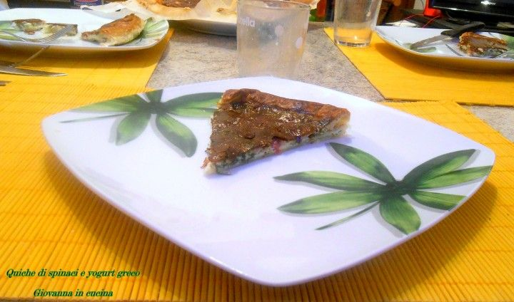 Quiche di spinaci e yogurt greco