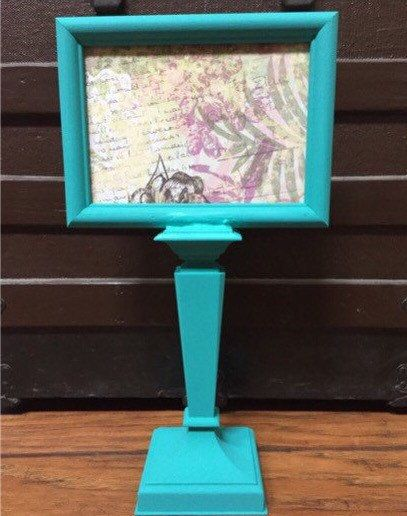 teal picture frame on frame stand pedestal frame 5x7 unique picture frames standing