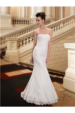 Spring Trumpet/Mermaid Fall Garden/Outdoor Natural Zipper-up Strapless Winter Wedding Dress