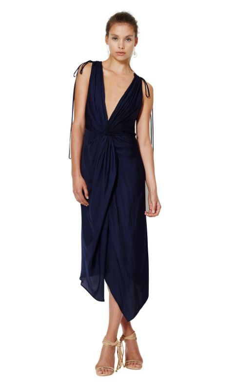 bec and bridge - Blue Haze Plunge Dress Blue