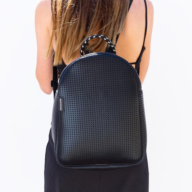 We can't get enough of our METALLIC BLACK neoprene! Leather look, wetsuit feel + totally vegan. Available in both our backpack and tote bag. x PB   #prenebags #neoprene #fashion #fashionblogger #fashionblog #style #styleblogger #ootd #pretty #summer #melbourne #australia  #makeup #beautyblog #beauty #beautyblogger #beautiful #girl #white #black #cute #blue #metallic #silver #bag #accessories #vegan #picoftheday #me