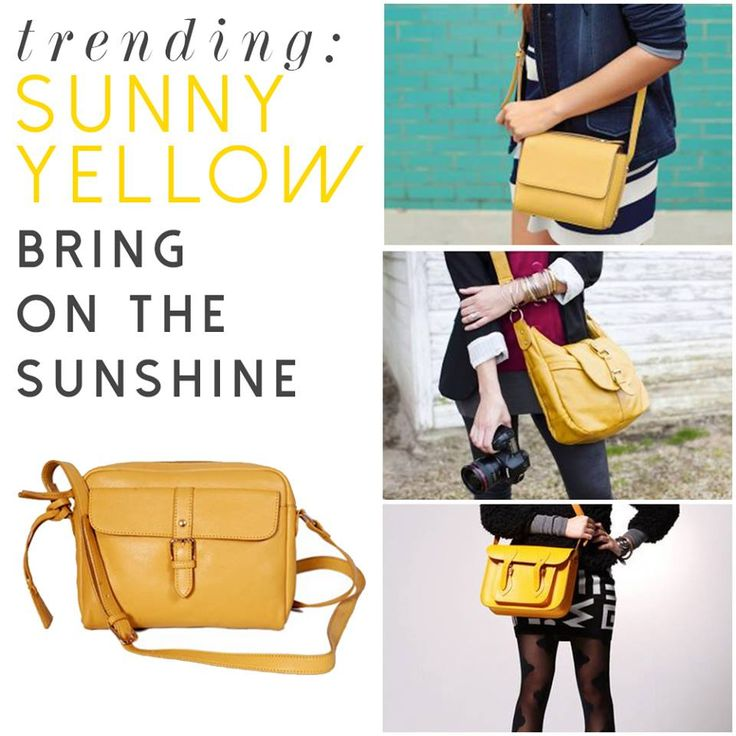 When the sun refuses to shine you know its time to add some yellow to your look! A small and handy cross-body is your best bet and you can get on trend with Diva in Yellow! Grab it at http://bit.ly/1CafMfh