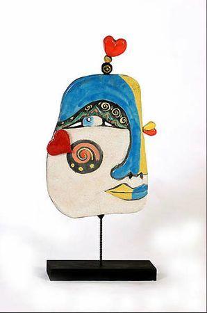 Picasso slab sculpture