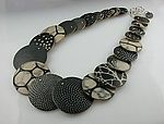 Big D Graduated Necklace by Louise Fischer Cozzi. The Big D Graduated Necklace beads go from 7/8
