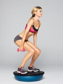 Bosu Squats. Learning to love these.Bosu Ball, Great Workout, Daily Workout, Workout Routines, Cores Workout, Ab Workouts, Full Body Workout, Weights Loss, Victoria Secret Abs