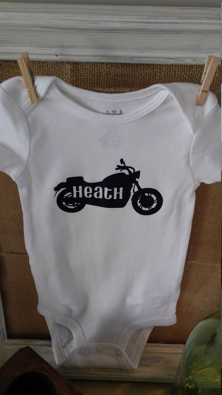 Motorcycle Baby Onesie/Baby Shower Gift/Motorcycle baby gift/Baby gift/boy baby shower/Personalized Onesie/Baby onesie/Onesie/girl baby by ThePolkadottedDesign on Etsy