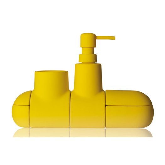 Wonderful Seletti Submarino Porcelain Bathroom Accessory Set | AllModern