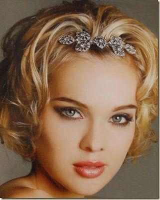 pelo corto para novias peinados demoda
