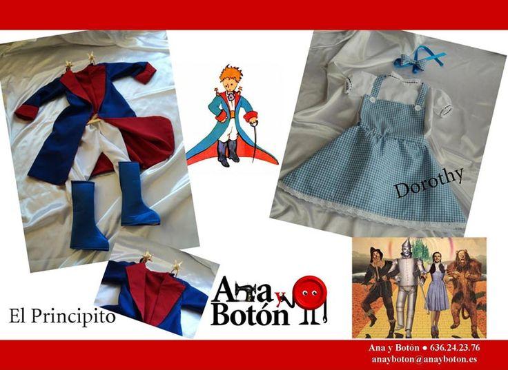 Ana y Botón, disfraces personalizados