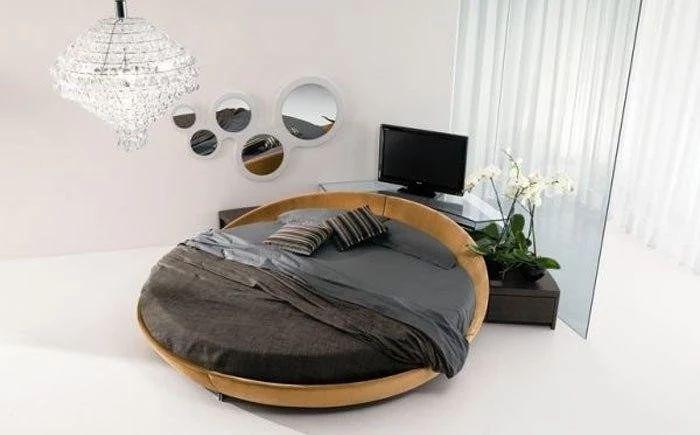 Фото: Круглые кровати