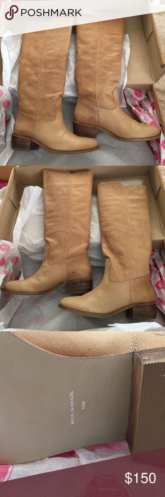 Matisse Gilbert OTK Natural Tan Leather Boots 10M Brand new never been worn Matisse Gilbert OTK Boots in natural tan leather size 10.  There is nothing wrong with them just not want I wanted.  Nonsmoking home & open to offers.  Paid retail $ 265 for these. Matisse Shoes Over the Knee Boots