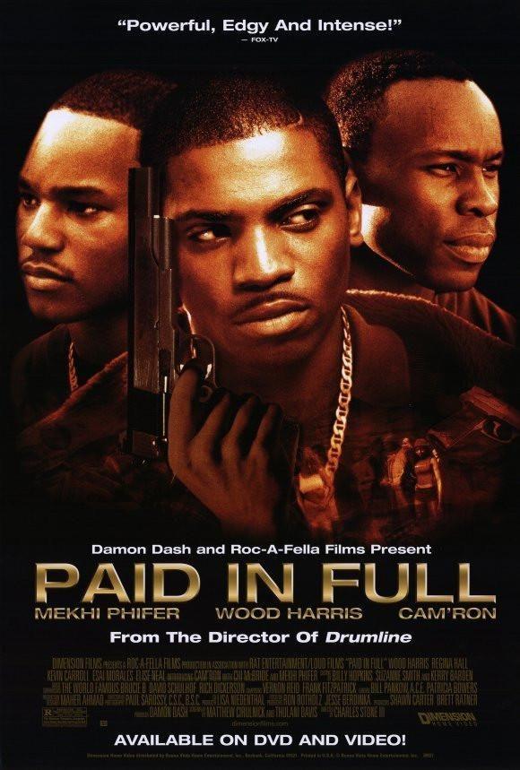 Paid In Full 27x40 Movie Poster 2002 Gangster Movies Mekhi Phifer Black Gangster Movies