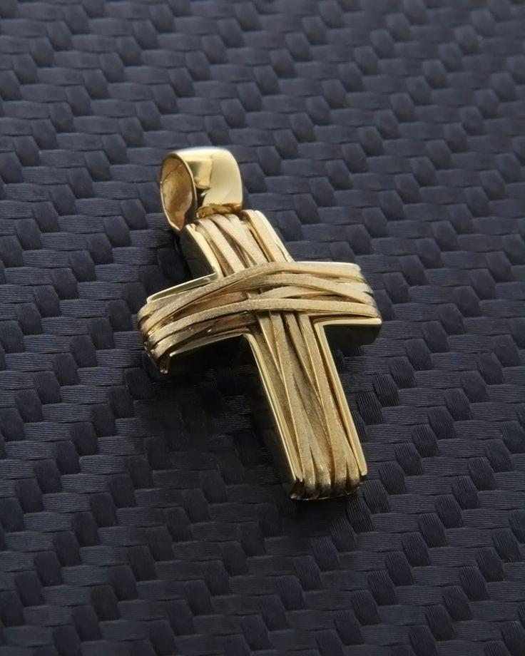 Σταυρός χειροποίητος χρυσός Κ14
