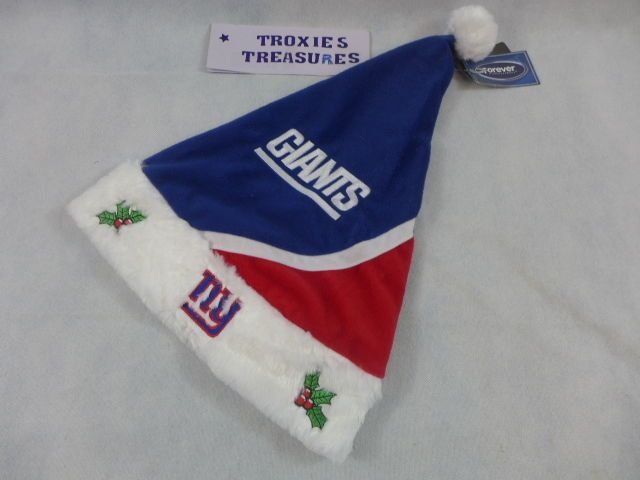 New York Giants Santa Hat Christmas Plush Genuine NFL League Merchandise Tags #Giants