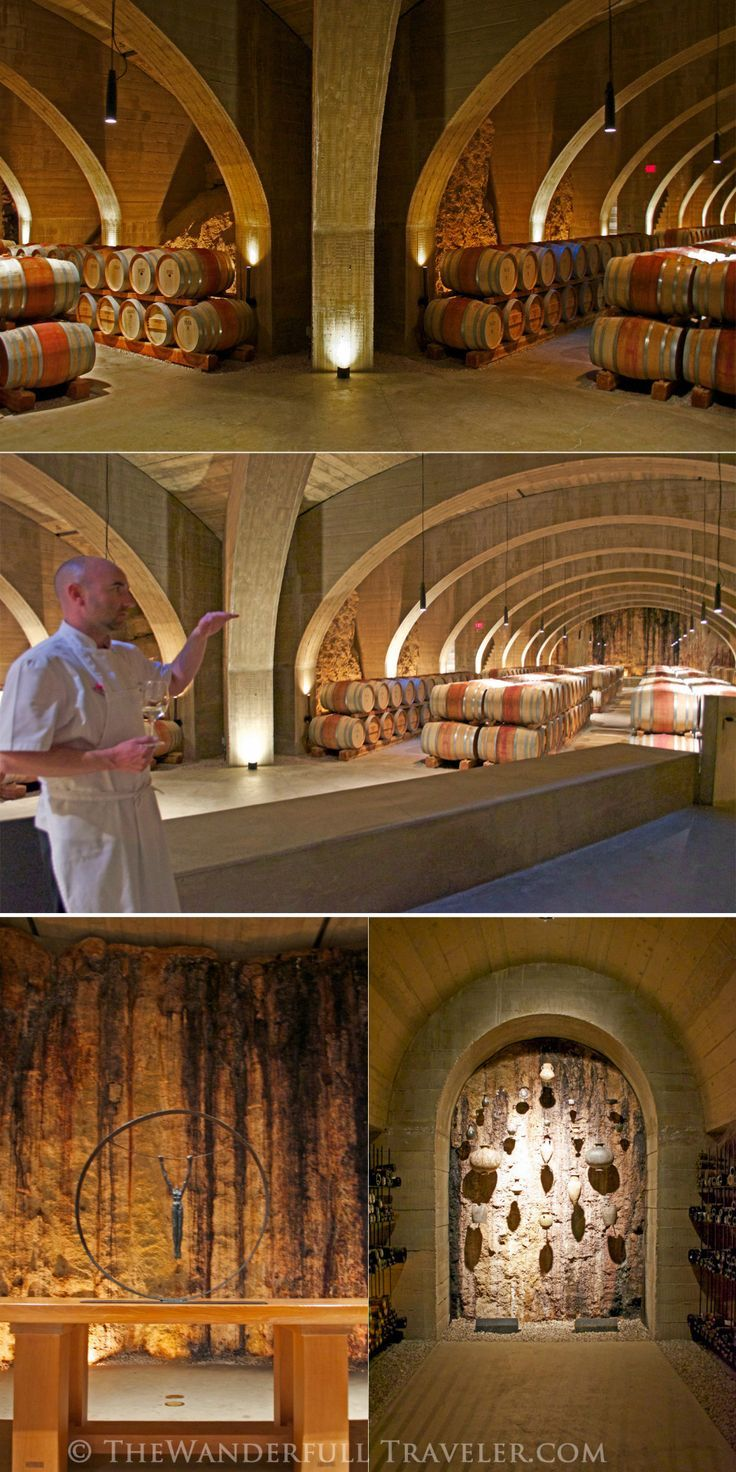 Learning to Cook in Wine Country, BC - Wine cellar within an extinct volcano, Mission Hill Winery, West Kelowna, BC, Canada Via http://TheWanderfullTraveler.com