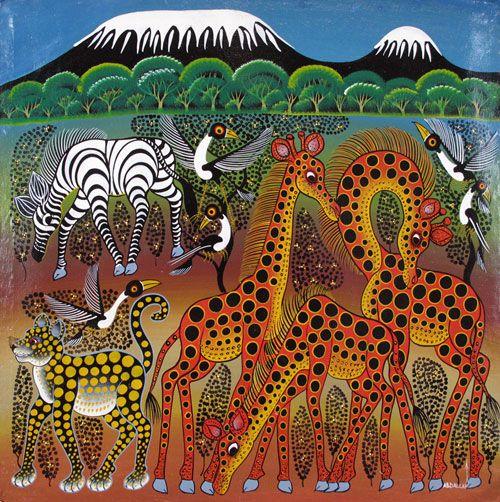 Amazing and vibrant Tanzania art | Tinga Tinga Paintings from Tanzania