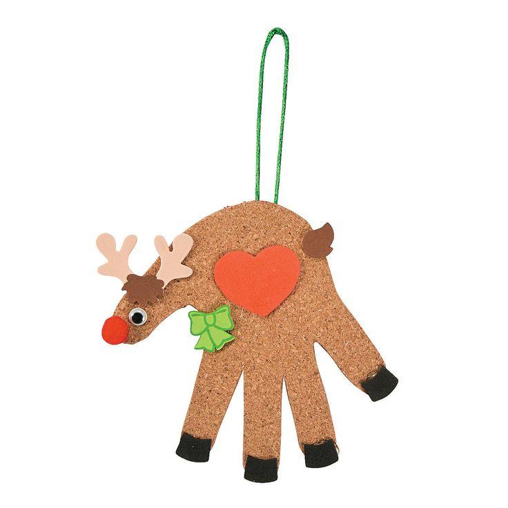 Handprint Reindeer Craft Kit - OrientalTrading.com