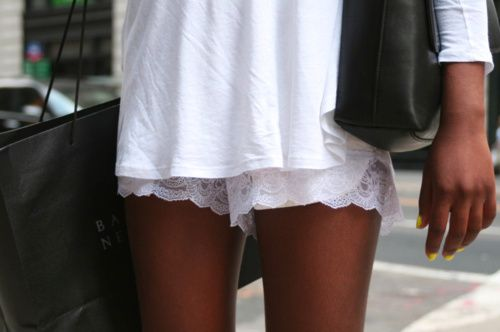 : Lacy Shorts, Yellow Nails, White Shorts, All White, Shorts Shorts, White Lace, Lace Shorts, Summer Shorts, Neon Yellow