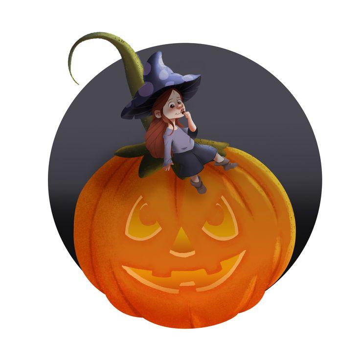 #Halloween #DigitalIllustration #childrenilustration #wacom