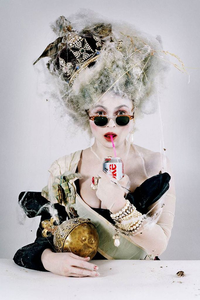 A long blonde up-swept nesty curled quirky avant garde hairstyle | Tim Walker | #leonorgreyl #haircare | www.leonorgreyl.com