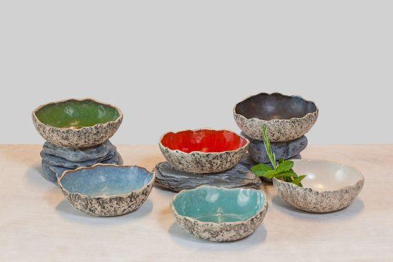 Soup bowls, Handmade ceramic soup bowls, Stoneware bowls, Salad bowls, Serving bowl, handmade bowl, Muesli bowl, Christmas gifts  Handmade pottery by Kari Ceramics