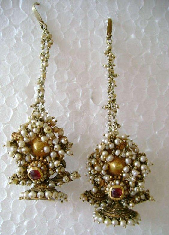 antique gold earrings from karnataka gili ole