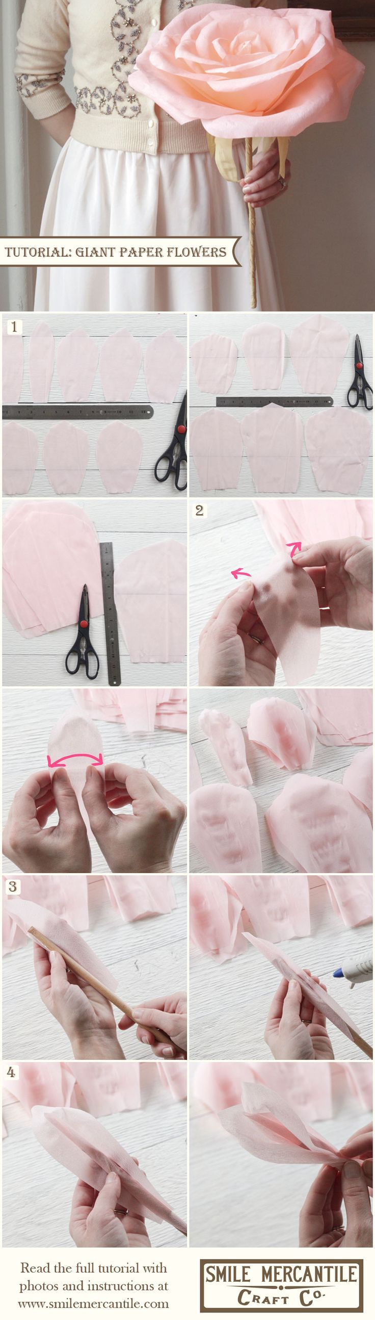 Tutorial: Make Giant Paper Flowers! so gorgeous ♥