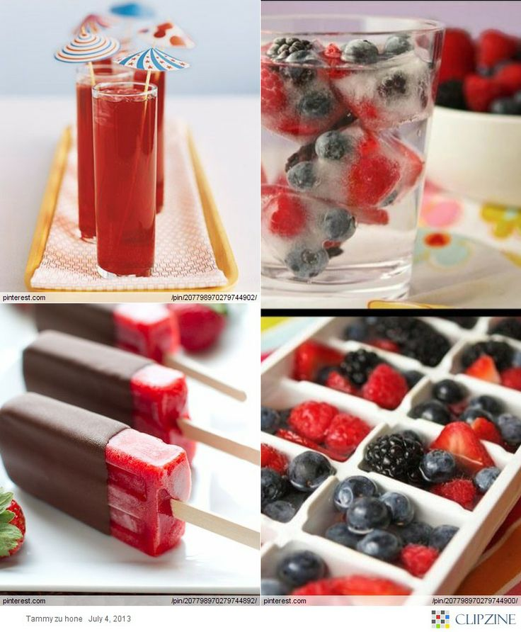 Love the fruit in the ice cube trays.  Going to try that one next summer.