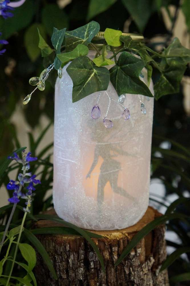 Lovely lights at an Ariel, Tinkerbell, and Jasmine birthday party! See more party ideas at CatchMyParty.com!