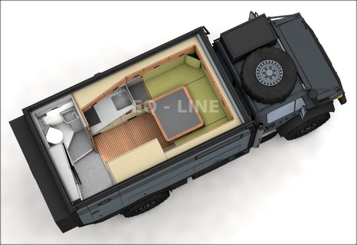 Unimog Camper Layout Plan