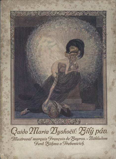 Vyskočil Quido Maria, Ferd. Böhm Třebenice with illustration by Franz von Bayros.  Scan-111207-0007 by Mattia Moretti, via Flickr: