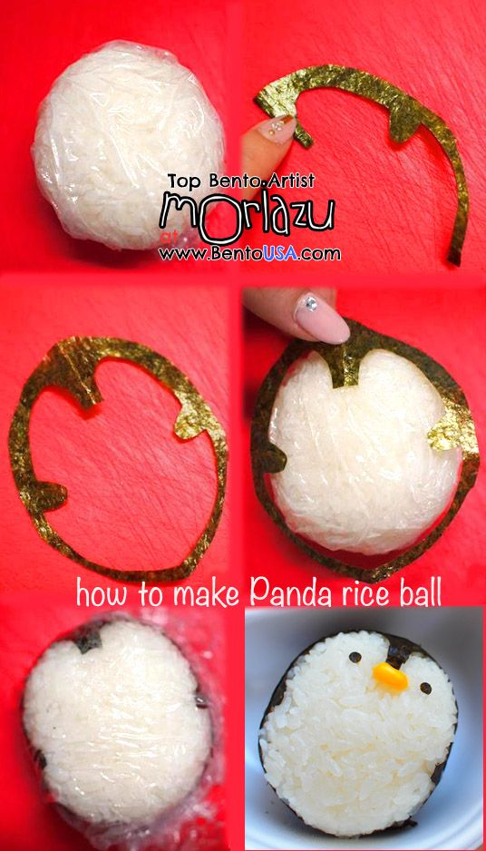 how to make Penguin rice ball #bento