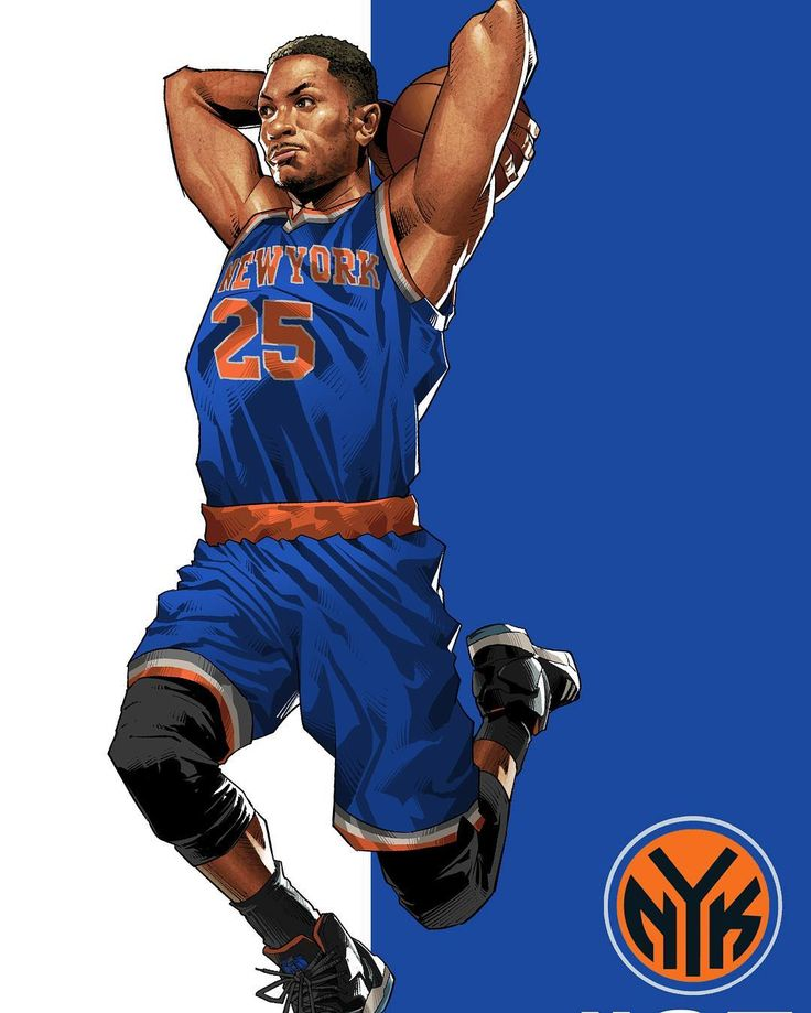 Rose in blue #derrickrose #newyorkknicks #artwork