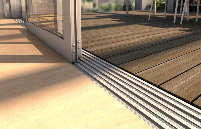 Optional LevelStep™ Sill - A totally flush transition. Easy access with no trip hazard.