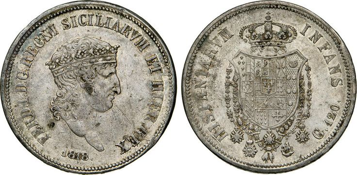 NumisBids: Numismatica Varesi s.a.s. Auction 65, Lot 503 : NAPOLI - FERDINANDO I (1816-1825) 120 Grana o Piastra 1818. P.R....